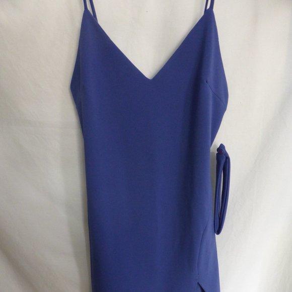 ROOM  SERVICE, large, blue dress, choker inc. BNWT